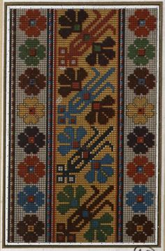 This Pin was discovered by Neş Cross Stitch Art, Cross Stitch Borders, Cross Stitch Flowers, Flower Embroidery Designs, Hand Embroidery Stitches, Cross Stitch Embroidery, Palestinian Embroidery, Hungarian Embroidery, Tapestry Crochet