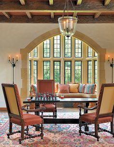 High ceiling and great looking beams  Vona-Drumlin-Collab-Sitting by Boston Design Guide, via Flickr