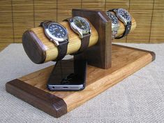 DESCRIPTION - For many the pleasure of wearing a quality watch has disappeared -. Mens Valet, Watch Organizer, Small Bathroom With Shower, Watch Holder, Bracelet Display, Watch Display, Wood Tools, Luxury Watches For Men, Jewelry Holder