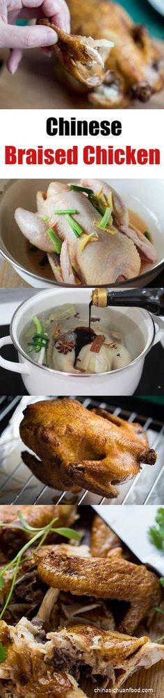 Chinese Braised Chicken 卤鸡 ChinaSichuanFood.com