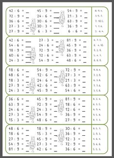Mompitziges 3 minutes training multiplication and division - Mompitz - Math Tutor, Math Literacy, Math Activities, Elementary Science, Elementary Schools, Math Multiplication, Math Workshop, 3rd Grade Math, Math For Kids