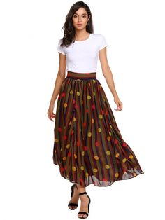 US$ 29.84 Multi-color3 High Waist A-Line Pleated Hem Swing Side Zipper Sexy Skirt Product Description Skirts Length : Maxi Material : Spandex,Polyester Skirt Style : A Line Skirts,Pleated Skirts Accent : Stripes Ocasion : Casual,Party Closure Type1 : Zipper Fly Women's Fashion