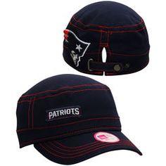 New England Patriots New Era Women's Major Chic Adjustable Hat - Navy