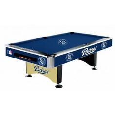 San Diego Padres MLB 8ft Billiards/Pool Table - Gameroom