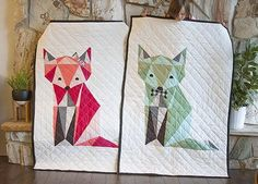 Twin Fox Quilt Pattern | If you've been looking for a gender neutral baby quilt, this is the pattern for you!