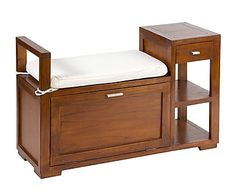 Banco / baúl en madera de acacia Beruwala - 100x37 cm