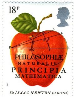 Literary Stamps: Newton, Sir Isaac (1642-1727)
