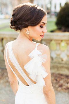 Blissful Chicago Wedding at Blackstone Hotel | Chic Wedding Dresses, Dress Ideas and Olivia D'abo