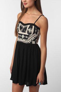 Staring at Stars Embroidered Top Dress.
