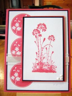 PEARLY PINKS USING SERENE SILHOUETTES BY TAMARA MARTIN, INDEPENDENT STAMPIN UP DEMONSTRATOR
