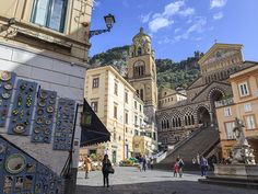 Picture of town square on Amalfi Coast, Italy
