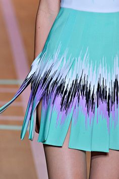 Versus Spring 2012 Details. the fabric kind of looks like neoprene...but cool nonetheless.