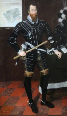 """""""Sir Anthony Paulet"""", Marcus Gheeraerts the younger, 1597; Jersey Heritage SJA/0000/00063"""