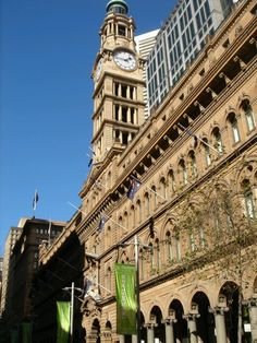 Martin place with blue sky..