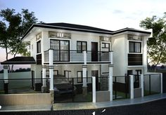 Various Home Designs for Top-Notch Construction Architects. 2 Storey House Design, Duplex House Design, Two Storey House, Apartment Design, Modern House Design, Philippines, Modern House Plans, House 2, Architecture