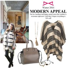 A modern appeal to our happy looks. You can buy everything with discount! Fall Winter 2015, Don't Forget, Happy, Modern, Stuff To Buy, Bags, Fashion, Handbags, Moda