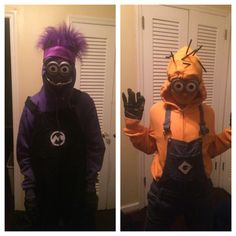 Purple & yellow #minion DIY costumes