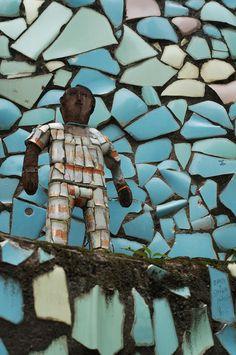 Sculptures in the Nek Chand Rock Garden