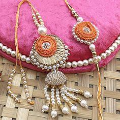 Awesome Pearl Rakhi Set Rakhi Day, Quilling Rakhi, Kalash Decoration, Rakhi Bracelet, Buy Rakhi Online, Handmade Rakhi Designs, Rakhi Cards, Rakhi Festival, Rakhi For Brother