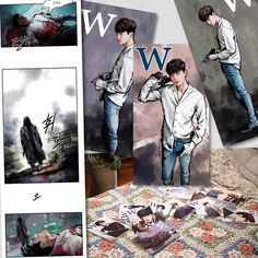 The artwork in the webtoon side of W Two Worlds is terrific. Reminds me of my manga reading days. Lee Jong Suk Cute, Lee Jung Suk, Bring It On Ghost, W Korean Drama, W Kdrama, Kang Chul, Moorim School, W Two Worlds, Han Hyo Joo