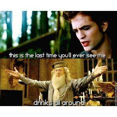 Dumbledore hates twilight(can't say I blame him)