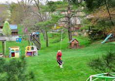 Backyard zip line project