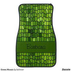 Green Mosaic Car Mat