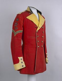 """victoriansword: """" """"  Colour Sergeant's full dress tunic, 1855 ©. This full dress tunic was worn by Colour Sergeant J Anderson of the 83rd Regiment of Foot. However, he would not have worn it for long... British Army Uniform, British Uniforms, Military Dresses, Military Uniforms, Historical Costume, Military Fashion, Dress Codes, Cool Outfits, Vintage Outfits"""