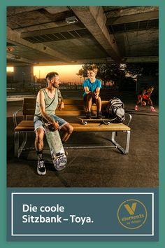 Bequem – naturnah – clever: Toya aus unserer Kollektion v-elements® ist die Sitzbank für jede öffentliche Location. Jetzt kennen lernen! Leh, Location, Wrestling, Collection, Sports, Movies, Movie Posters, Switzerland, Public Spaces