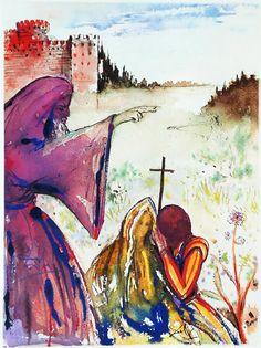 """Ilustrações raríssimas de Salvador Dalí para """"Romeu e Julieta"""" -"""