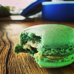 mate-infused #macaron. the perfect finale to a sublime lunch at #mirazur in #menton