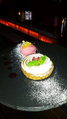 & Lime Meringue served with Fresh Raspberries and Raspberry Sorbet ...