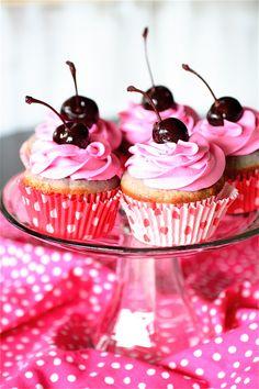 Cherry almond cupcakes