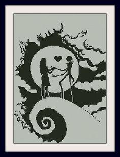Sally and Jack Skellington Nightmare Before Christmas,INC Cross Stitch Pattern, BOGO, PDF counted cross stitch pattern,R148