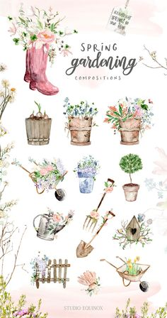 Most current Free of Charge hello Spring Wreath Concepts Find some simple how to compliment to get wreath producing and create a beautiful rough outdoors spr Watercolor Flowers, Watercolor Art, Planner Bullet Journal, Wedding Planner Binder, Garden Journal, Clip Art, Hello Spring, Spring Garden, Watercolor Illustration