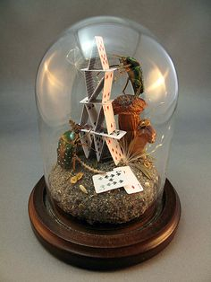 beetles house of cards diorama by Lisa Wood