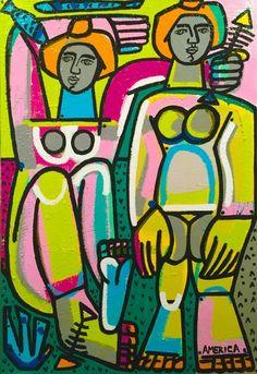 Martin, America - J. Modern Pop Art, Portraits, Figure Painting, Figurative Art, Art Lessons, Pixel Art, Printable Art, Construction Images, Abstract Art