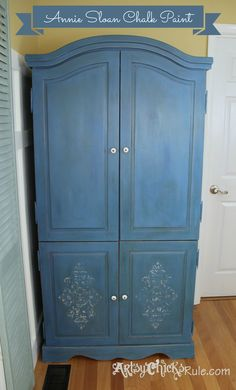 Armoire Transformed Twice...Finishing Up with Chalk Paint - Artsy Chicks Rule®