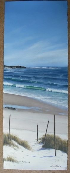 How to go about painting with acrylics on watercolor paper with Mark Waller's webpage on this very topic!