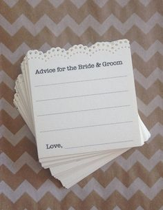 Hey, I found this really awesome Etsy listing at https://www.etsy.com/listing/183126827/printed-advice-for-the-bride-groom-mini