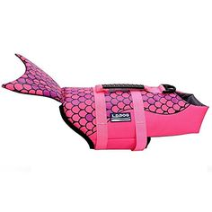 Dog Life Jacket, Monbro Pet floatation vest Dog Lifesaver Dog Life Preserver for Water Safety at the Pool, Beach and Boating in River (M, Pink)