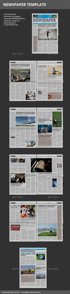 27 Best Newspaper Templates images in 2019 Editorial design