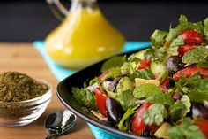 Fattoush - this Middle Eastern Salad is not only vibrant and bursting with fresh flavor, it's also healthy, lean and a delicious way to get ready for the upcoming swimsuit season.