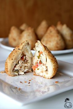 Coxinha - Brazilian Chicken Croquette. Classic snack! (co-worker makes these, SOOO yummy, I'd rather buy a bunch from him though)