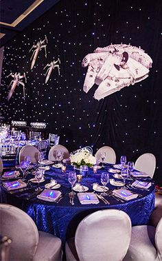 Transport through hyperspace at this Star Wars inspired wedding reception