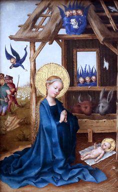 Stephan Lochner. 1410-1451. Cologne. Adoration of the Child. Munich Alte Pinakothek.