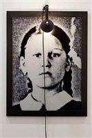 Installation view 'Odessa' 2004, by Christian Boltanski Christian (French, b. 1944), Medium: Photographs,  Mixed Media, B/W photography, framed, lamp