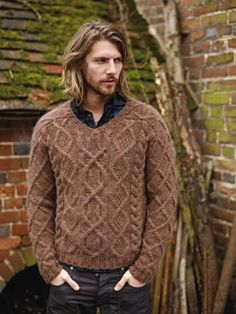 NEW ROWAN PATTERN BOOK A/W 2013: Ilam (men's version) by Marie Wallin, in Autumn Knits booklet, available July 15, 2013. Made with Rowan Cocoon.
