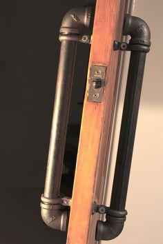 Pair of Industrial Steel Pipe Door Pull Handles. £60.00, via Etsy.