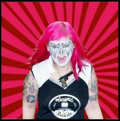 pink hair  betty ford galaxy roller derby awesome